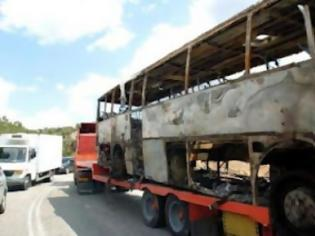 Φωτογραφία για Στις φλόγες λεωφορείο με Αλβανούς τουρίστες