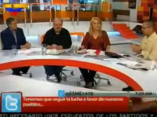 Φωτογραφία για Η Ρένα Δούρου έφτασε στην TV της Bενεζουέλας για το επεισόδιo με Kασιδιάρη..[Βίντεο]