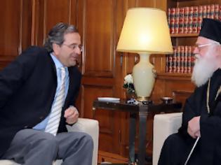 Φωτογραφία για Συνάντηση Αρχιεπισκόπου Αλβανίας με τον Πρωθυπουργό
