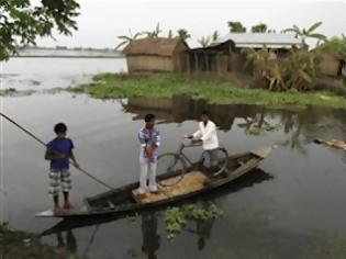 Φωτογραφία για Οι μουσώνες στο ομόσπονδο κρατίδιο Ασάμ της Ινδίας έφεραν 109 νεκρούς και 400.000 άστεγους