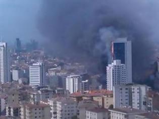 Φωτογραφία για Μεγάλη φωτιά σε ουρανοξύστη στην Κωνσταντινούπολη