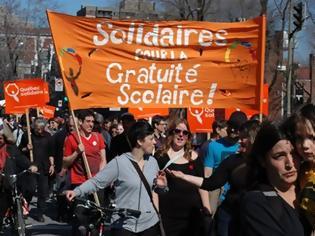 Φωτογραφία για Δυναμικές διαδηλώσεις φοιτητών στον Καναδά…