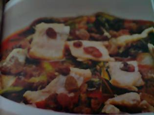 Φωτογραφία για Μπακαλιάρος  στο  φούρνο  με  αγριόχορτα και  σταφίδες