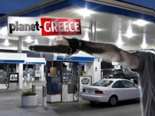 Φωτογραφία για 5 ληστές εναντίον ενός βενζινά!