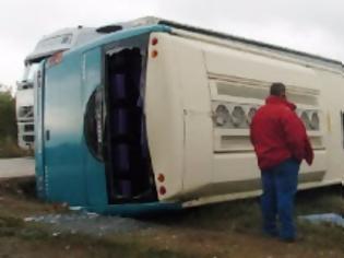 Φωτογραφία για Πριν λίγο: Λεωφορείο του ΚΤΕΛ Ξάνθης ανετράπη στην Πεζούλα!