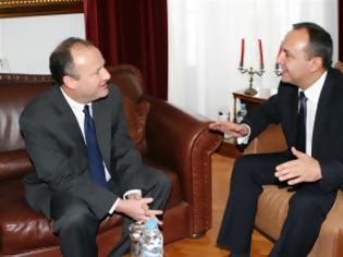Φωτογραφία για Συνάντηση Θ. Καράογλου με τον Βοηθό Υφυπουργό Εξωτερικών των ΗΠΑ, κ. Eric Rubin