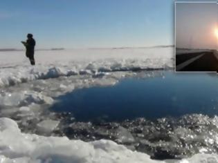 Φωτογραφία για Δείτε: Εδώ έπεσε ο μετεωρίτης στη Ρωσία
