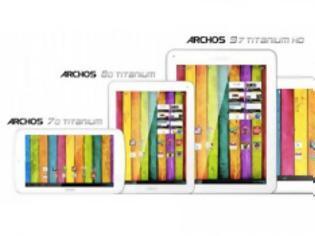 """Φωτογραφία για Archos Platinum Series quad-core tablets (8"""", 9.7"""" Retina, 11.6"""" HD)"""