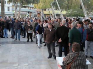 Φωτογραφία για Λαϊκή στάση πληρωμών στην Κρήτη και μπλόκο στους πλειστηριασμούς [video]