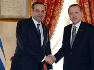 Φωτογραφία για Τηλεφωνική επικοινωνία Σαμαρά-Ερντογάν