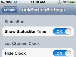 Φωτογραφία για LockScreen Settings:  Cydia tweak  update v1.5
