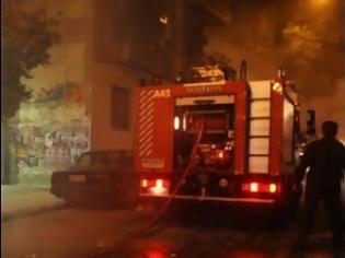 Φωτογραφία για Έπιασε φωτιά τράπεζα στη Σόλωνος