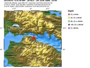 Φωτογραφία για Σεισμός στο Αίγιο