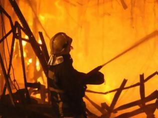 Φωτογραφία για Καταστράφηκε εργοστάσιο αρτοσκευασμάτων στο Ηράκλειο από πυρκαγιά