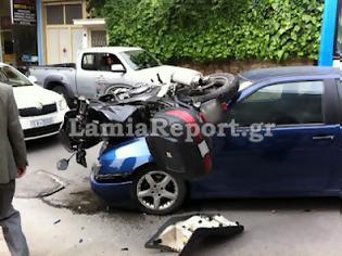 Φωτογραφία για Λαμία: Σοβαρό τροχαίο με μηχανή στην οδό Υψηλάντη
