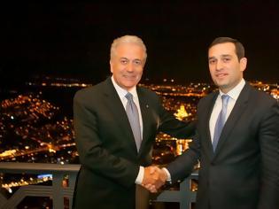 Φωτογραφία για Δηλώσεις ΥΕΘΑ Δημήτρη Αβραμόπουλου και Υπουργού Άμυνας της Γεωργίας Ιrakli Αlasania μετά τη συνάντησή τους στην Τιφλίδα