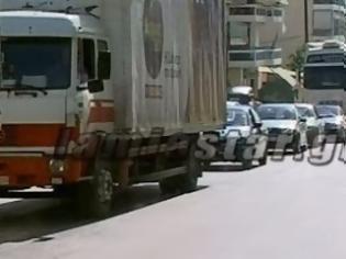 Φωτογραφία για Χάος στην Λαμία από το κλείσιμο της εθνικής οδού. Προσοχή και υπομονή μέχρι αύριο [video]
