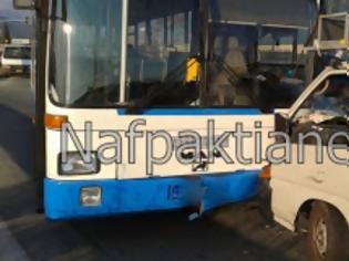 Φωτογραφία για Λεωφορείο της Αστικής συγκοινωνίας συγκρούστηκε με ΙΧ στο Αντίρριο [video]