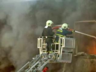 Φωτογραφία για Σέρρες: Μεγάλη φωτιά στο εργοστάσιο γάλακτος ΚΡΙ-ΚΡΙ