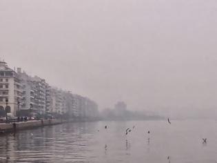 Φωτογραφία για Θεσσαλονίκη: Αυτή είναι η εικόνα της πόλης λόγω αιθαλομίχλης!