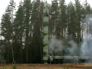 Φωτογραφία για Δοκιμαστική εκτόξευση διηπειρωτικού βαλλιστικού πυραύλου RS-12M Topol από τη Ρωσία