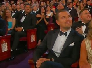 Φωτογραφία για Καρέ-καρέ οι εκφράσεις του Ντι Κάπριο, δευτερόλεπτα πριν και μετά την ανακοίνωση του Οσκαρ α' αντρικού ρόλου, που δεν πήρε