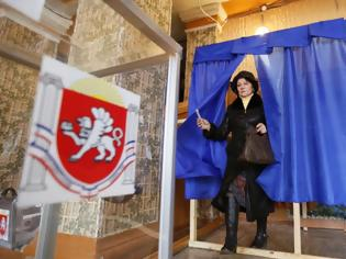 Φωτογραφία για Προκαταρκτικά αποτελέσματα: 95% θέλει ένωση - Μόσχα: Το συντομότερο η ψήφιση της προσχώρησης