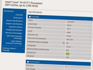 Φωτογραφία για Δυνατοί Core M επεξεργαστές έρχονται από την Intel