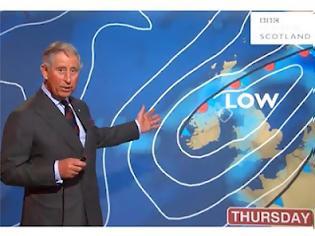 Φωτογραφία για Ο πρίγκηπας Κάρολος παρουσιάζει το δελτίο καιρού! [ΒΙΝΤΕΟ]