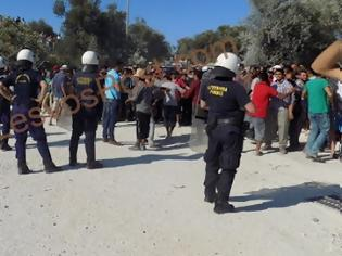 Φωτογραφία για ΕΚΤΟΣ ΕΛΕΓΧΟΥ η περιοχή του Καρά Τεπέ Μυτιλήνης- Συνεχόμενες εξεγέρσεις μεταναστών  [photow] [video]