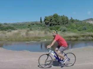 Φωτογραφία για Ενας Λαμιώτης έρχεται από το Λονδίνο με…ποδήλατο [video]