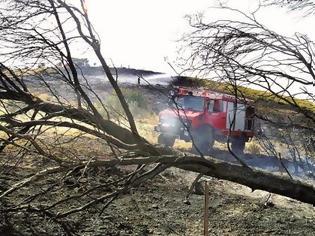 Φωτογραφία για Πάτρα: Η πυρκαγιά στα Συχαινά κατάπιε πυροσβεστικό όχημα - Ακούστηκαν αλλεπάληλες εκρήξεις - Δείτε βίντεο