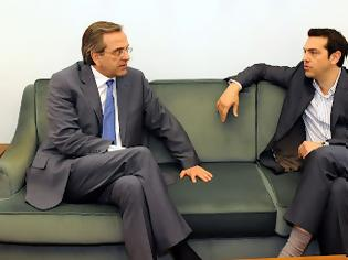 Φωτογραφία για Συμφωνία για ντιμπέιτ Σαμαρά - Τσίπρα
