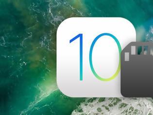 Φωτογραφία για Το ios 10 χρησιμοποιεί λιγότερο αποθηκευτικό χώρο στην συσκευή
