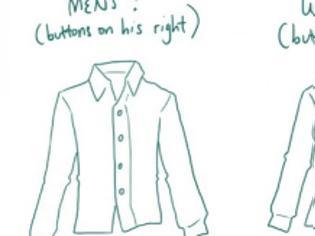 00be98fb0ed5 Φωτογραφία για Ξέρετε γιατί τα κουμπιά στα ανδρικά πουκάμισα βρίσκονται  στην αντίθετη πλευρά από τα γυναικεία