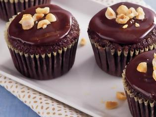 Φωτογραφία για Cupcakes σοκολάτας με φουντούκι