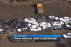 ΣΟΚ! 97 ολοκαίνουργιες BMW καταστρέφονται σε εκτροχιασμό τρένου