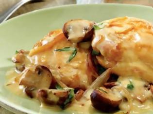 Φωτογραφία για Κοτόπουλο με τυρί κρέμα και μανιτάρια