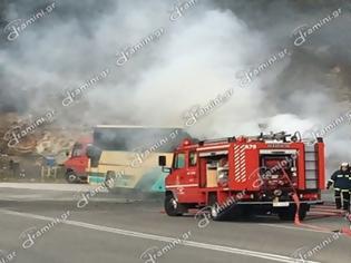 Φωτογραφία για Φωτιά σε λεωφορείο του ΚΤΕΛ Καβάλας που μετέφερε μαθητές