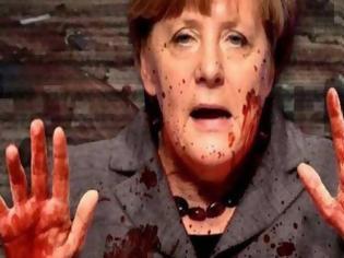 Φωτογραφία για Σοκαριστική εικόνα: Η Ανγκελα Μέρκελ έχει στα χέρια της το αίμα των νεκρών...