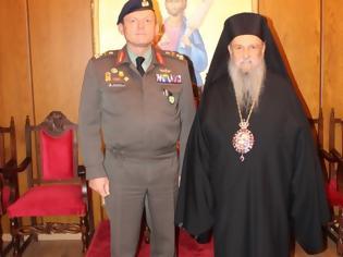 Φωτογραφία για Ο Διοικητής της 1ης Στρατιάς Αντγος Ηλίας Λεοντάρης στον Μητροπολίτη Λαρίσης και Τυρνάβου