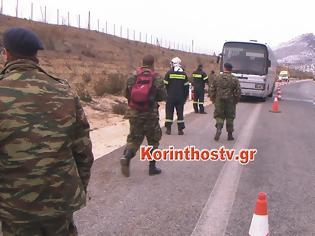 Φωτογραφία για Βίντεο και φωτό από τη φωτιά στο λεωφορείο που μετέφερε 45 άτομα από τη ΣΣΕ