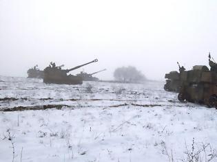 Φωτογραφία για Επιχειρησιακή Εκπαίδευση 50 Μηχανοκίνητης Ταξιαρχίας στον χιονισμένο Έβρο