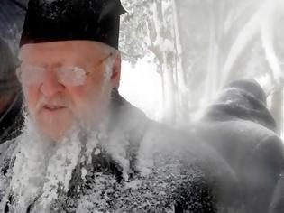 Φωτογραφία για Ο «παγωμένος» Πατριάρχης Βαρθολομαίος... [photos]