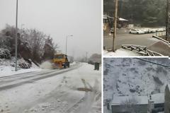 «Χτύπησε» και στην Ξάνθη ο ΒΙΚΤΩΡ - Χιόνια σε βουνό και θάλασσα και κλειστά σχολεία