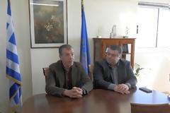 Συνάντηση του Δημάρχου Ιερής Πόλης Μεσολογγίου Ν. Καραπάνου με τον επικεφαλής της Κοινοβουλευτικής Ομάδας «Το Ποτάμι» Σταύρο Θεοδωράκη