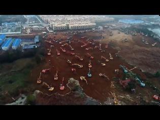 Φωτογραφία για Απίστευτες εικόνες στην Κίνα: Xτίζουν νοσοκομείο 1000 κλινών για τον Κοροναϊό σε ...6 ημερες! (video)