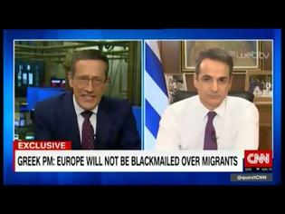 Φωτογραφία για Κυρ. Μητσοτάκης στο CNN: Η συμφωνία ΕΕ-Τουρκίας είναι νεκρή με ευθύνη της Άγκυρας