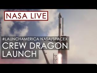 Φωτογραφία για Η απ' ευθείας εκτόξευση του Crew Dragon απόψε στις 11.30