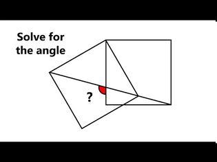 Φωτογραφία για Πόσες μοίρες είναι η γωνία ανάμεσα στα δύο τετράγωνα;
